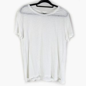 Roots Canada Linen White T-shirt Tee Size M
